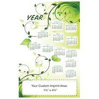 "XL Magnetic Calendar ""Green Floral"" (5-1/2""x8-1/2"")"