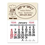 Custom Pizza Man Peel-N-Stick Multi-Use Calendar
