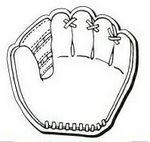 Baseball Glove Notekeeper™ Magnet- 35 Mil Ampli-Fey™ Color (3