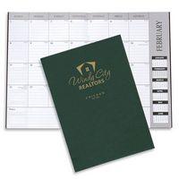 Leatherette Monthly Desk Planner