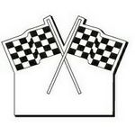 Checkered Flag Notekeeper™ Magnet - 35 Mil Ampli-Fey™ Color (2-1/2