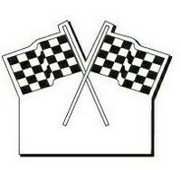 """Checkered Flag Notekeeper Magnet- 35 Mil Process Color (2-1/2""""x3-1/8"""")"""