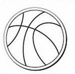 Basketball Notekeeper™ Magnet- 20 Mil Ampli-Fey™ Color (3