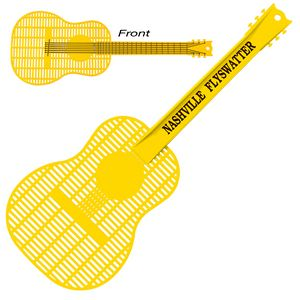 Custom Decorated Guitar Shaped Fly Swatters