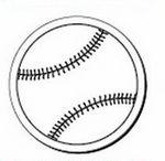 Baseball Notekeeper™ Magnet- 20 Mil Ampli-Fey™ Color (3