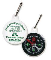 Compass Zipper Pull w/ Zipper Pull Ring Attached