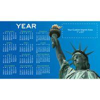 "Lady Liberty Process Color Magnetic Calendar/ 20 Mil (4""x7"")"