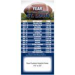 Pro Team Football Schedule Magnet (3 1/2