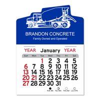 Cement Truck Peel-N-Stick® Multi-Use Calendar