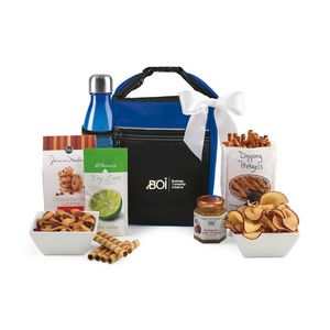 Spirited Gourmet Lunch Break Cooler with Geyser Bottle Gift Set Blue