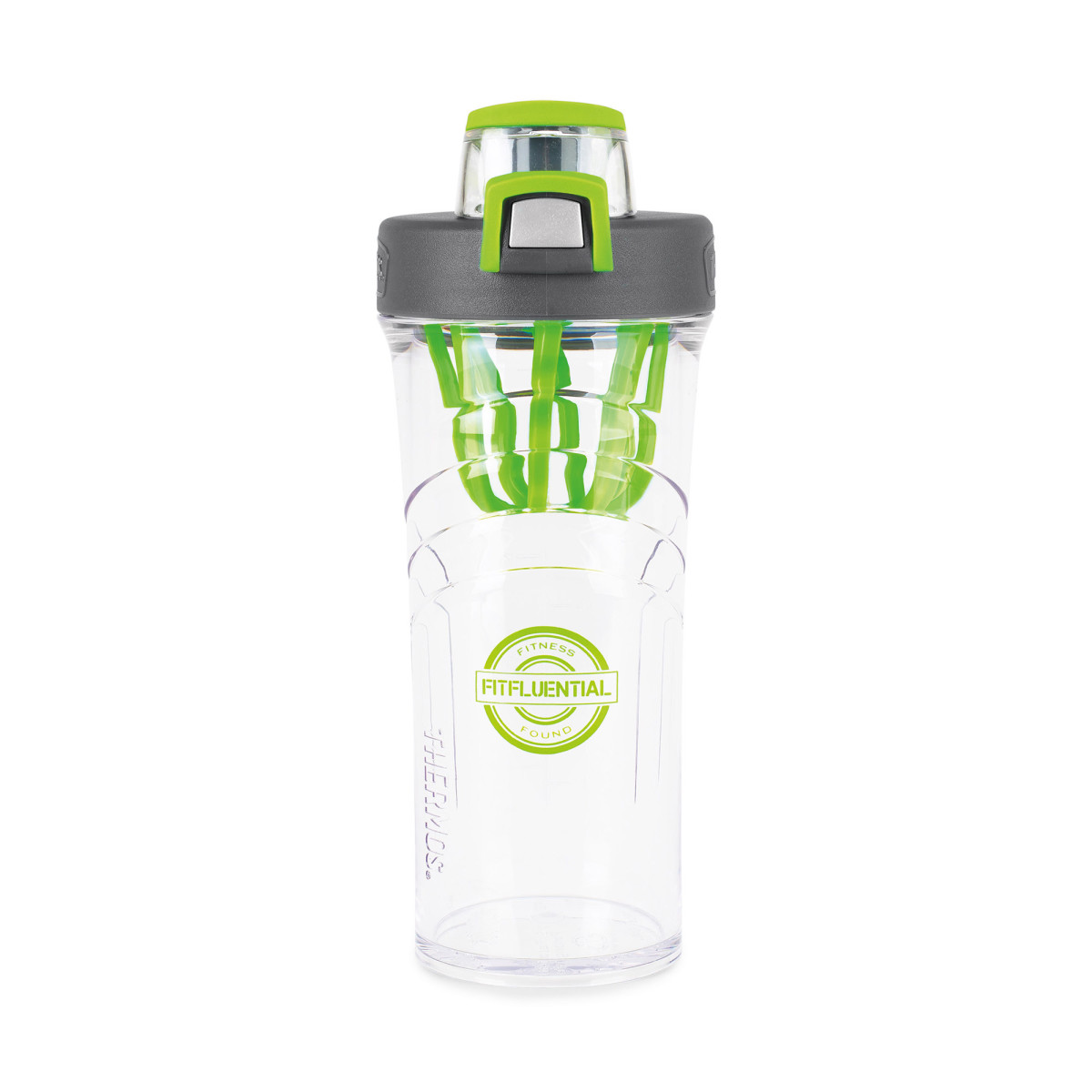 Thermos® Shaker Bottle with Integrated Mixer - 24 Oz. Black-Green