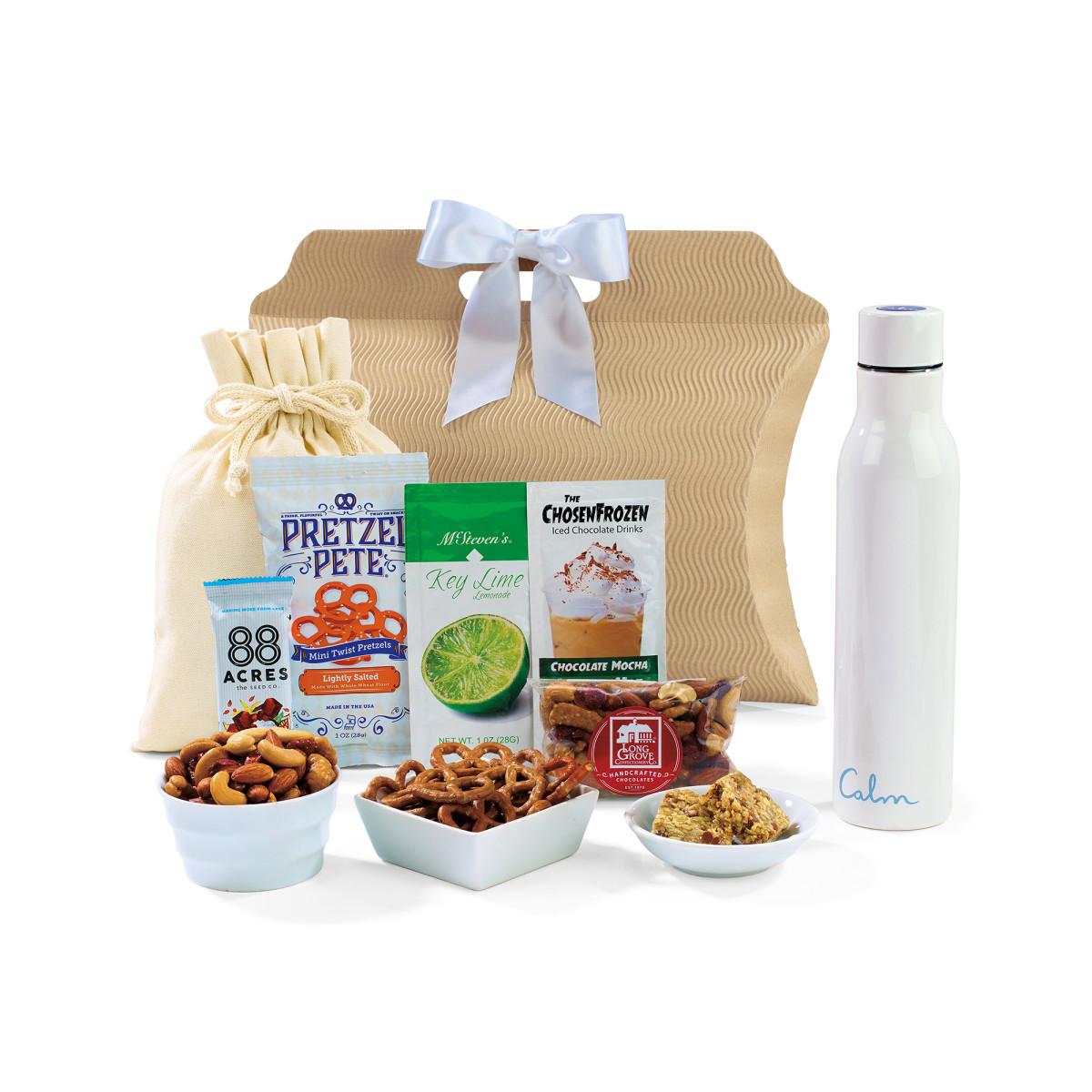 Sidney Sip & Snack Gift Tote - White