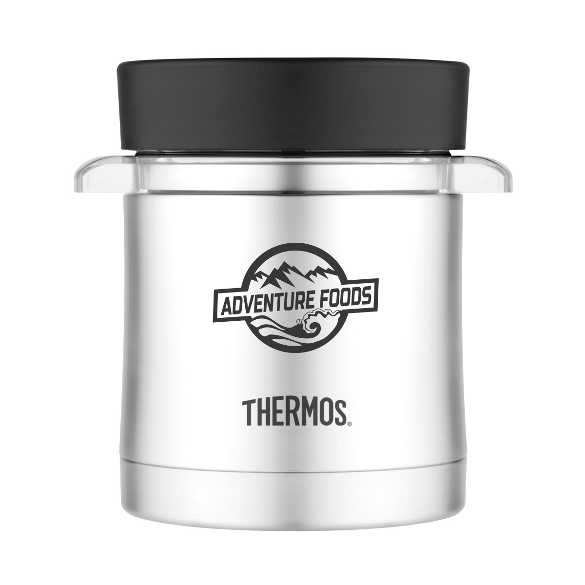 Thermos® Food Jar with Microwavable Container - 12 Oz. Black
