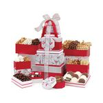 Custom Best of the Season Gourmet Sweets & Treats Tower Red-Silver