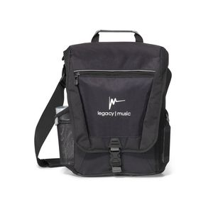 Vertex Vertical Computer Messenger Bag - Black