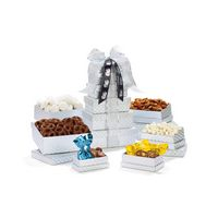 Shimmering Sweets & Snacks Gourmet Tower Silver