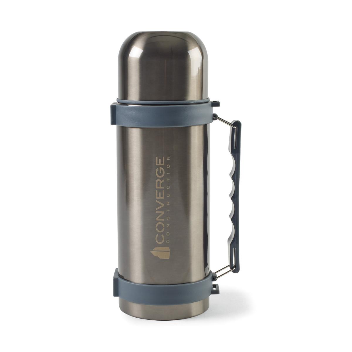 Aviana™Fallon Double Wall Stainless Beverage Bottle - 34 Oz. Grey-Black