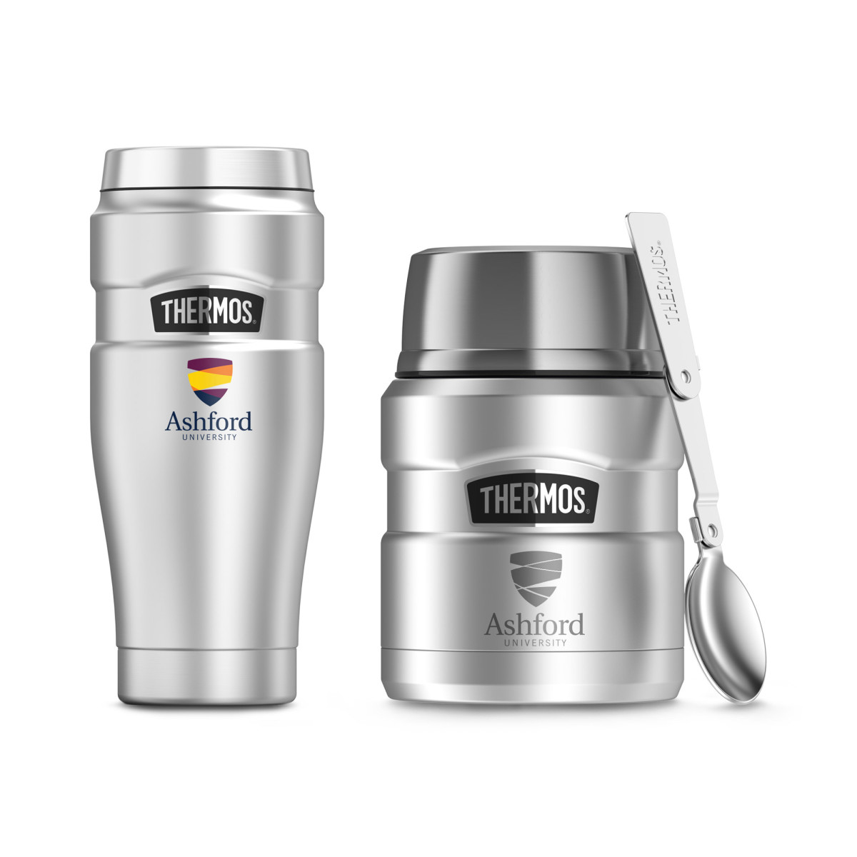 Thermos® Stainless King™ Travel Gift Set Silver