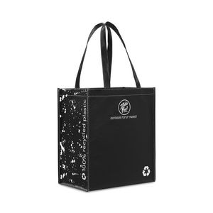Laminated 100% Recycled Shopper - Black