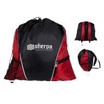 Custom Sherpa Drawstring Backpack
