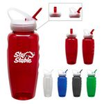 Custom 28 Oz. Polyclear Gripper Fruit Fusion Bottle