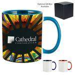 Custom 11 Oz. Dye Sublimated Mug w/ Colored Inner & Handle