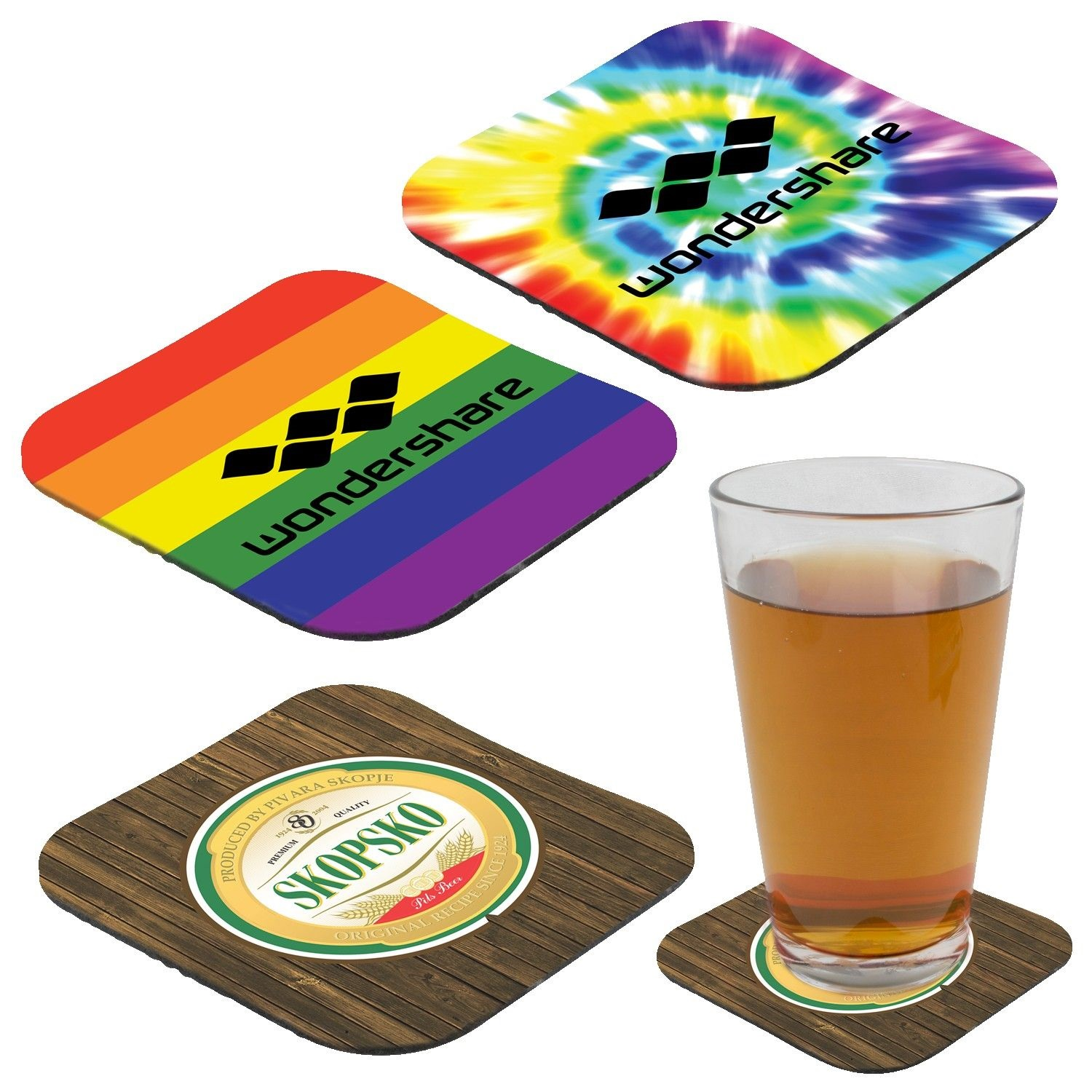 Full color Rubber Coaster 4-1/4