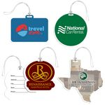 Custom Full Color Custom Shaped Bag Tag w/ Clear Loop
