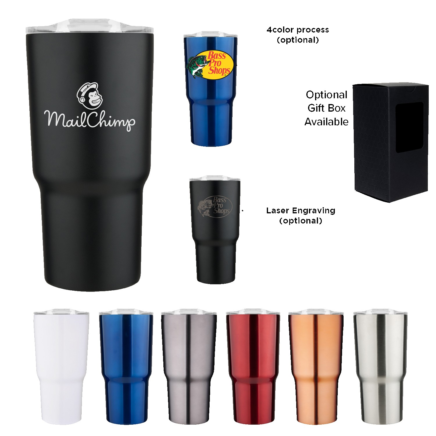 20 oz Chimp Double Wall Stainless Vacuum Tumbler