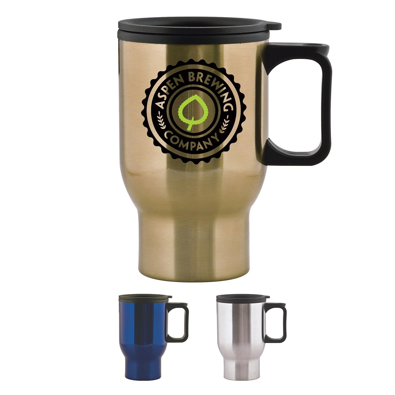 15 Oz. Aspen Stainless Travel Mug
