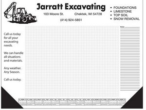 40 Sheet Deluxe Desktop Pad w/ Grid and Side Notes