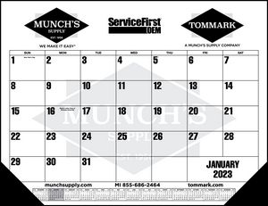 Standard 2 Color Desk Pad Calendar