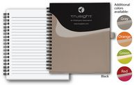 Front Pocket Poly Cover Notebook w/elastic pen loop