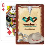 Custom Cheyenne Western Theme Poker Size Playing Cards
