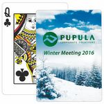 Custom Winter Theme Poker Size Playing Cards