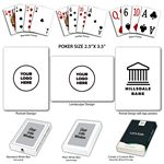 Custom Baronet White Poker Size Playing Cards w/Regular Face