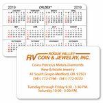 Custom Caldex Business Card w/ Horizontal Calendar w/1 Color on 1 Side