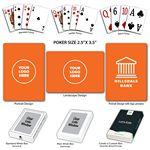 Custom Solid Back Orange Poker Size Playing Cards