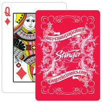 Paper Custom Design Poker Size Playing Card w/1 Color