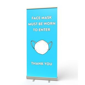 Retractable Banner Stand (Face Mace Must Be Worn)