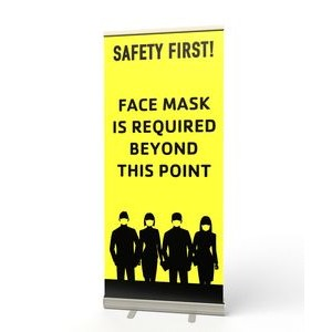 Retractable Banner Stand (Safety First Face Mask)