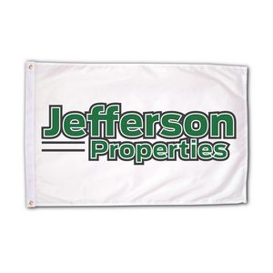 Custom Roll to Roll Screen Printed Flags (2 Color Print) (3' x 5')