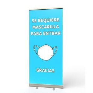 Retractable Banner Stand (Se Requiere Mascarilla)