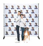 Custom Backdrop Step and Repeat Banner Stand w/8.5' x 8' Banner