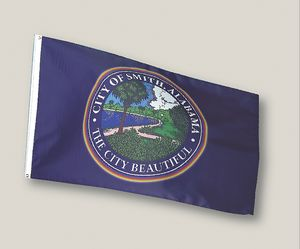 Custom Printed Calescent Dyed Flags (3' x 5')