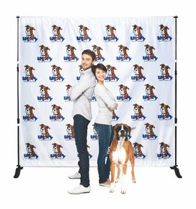 Backdrop Step & Repeat Banner Stand w/8.5 x 10 Banner