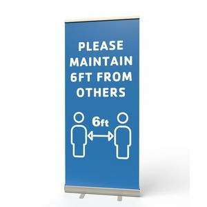 Retractable Banner Stand (Please Maintain 6ft)