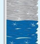 Metallic Mirror Brite Pennant (Blue/Silver)