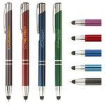 Custom Tres-Chic Touch Stylus Pen - Full-Color Metal Pen