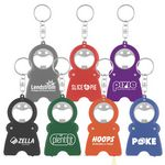 Custom HandyMan - 4-in-1 Keychain, Bottle Opener, LED Flashlight, 3 ft Measuring Tape